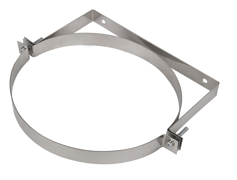 Stainless Steel Wall Bracket Chimney Liner Clip Flue Liner Clamp Holder Multi Fuel Stove Support KJ20 (140mm) Armar Trading LTD KJ20/140