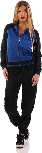 AE Damen Freizeitanzug Hausanzug Jogginganzug Anzug mit Reißverschluss Gr. S XXL
