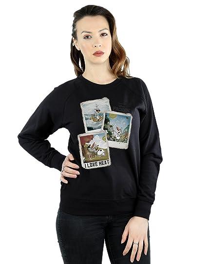 b33949dff8ba35 Disney Women's Frozen Olaf Polaroid Sweatshirt: Amazon.co.uk: Clothing