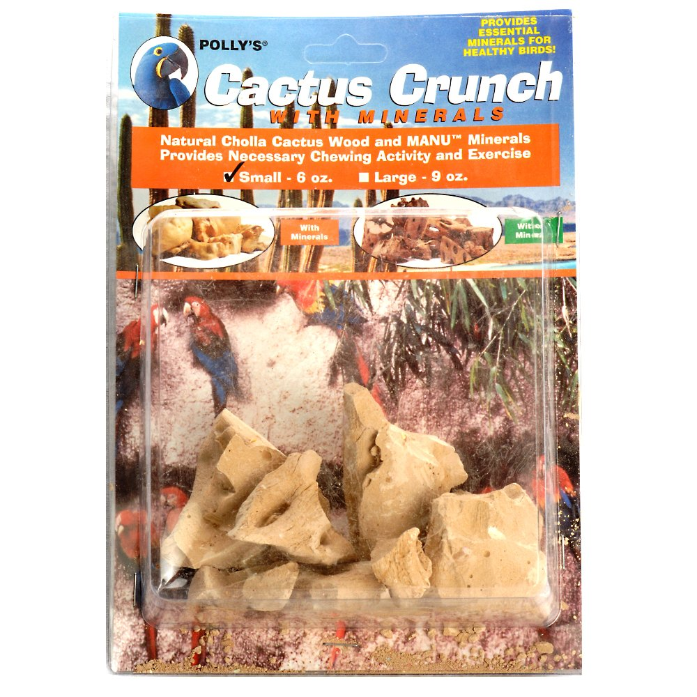 Polly's Cactus Crunch Bird Chew Toy with Minerals, Small