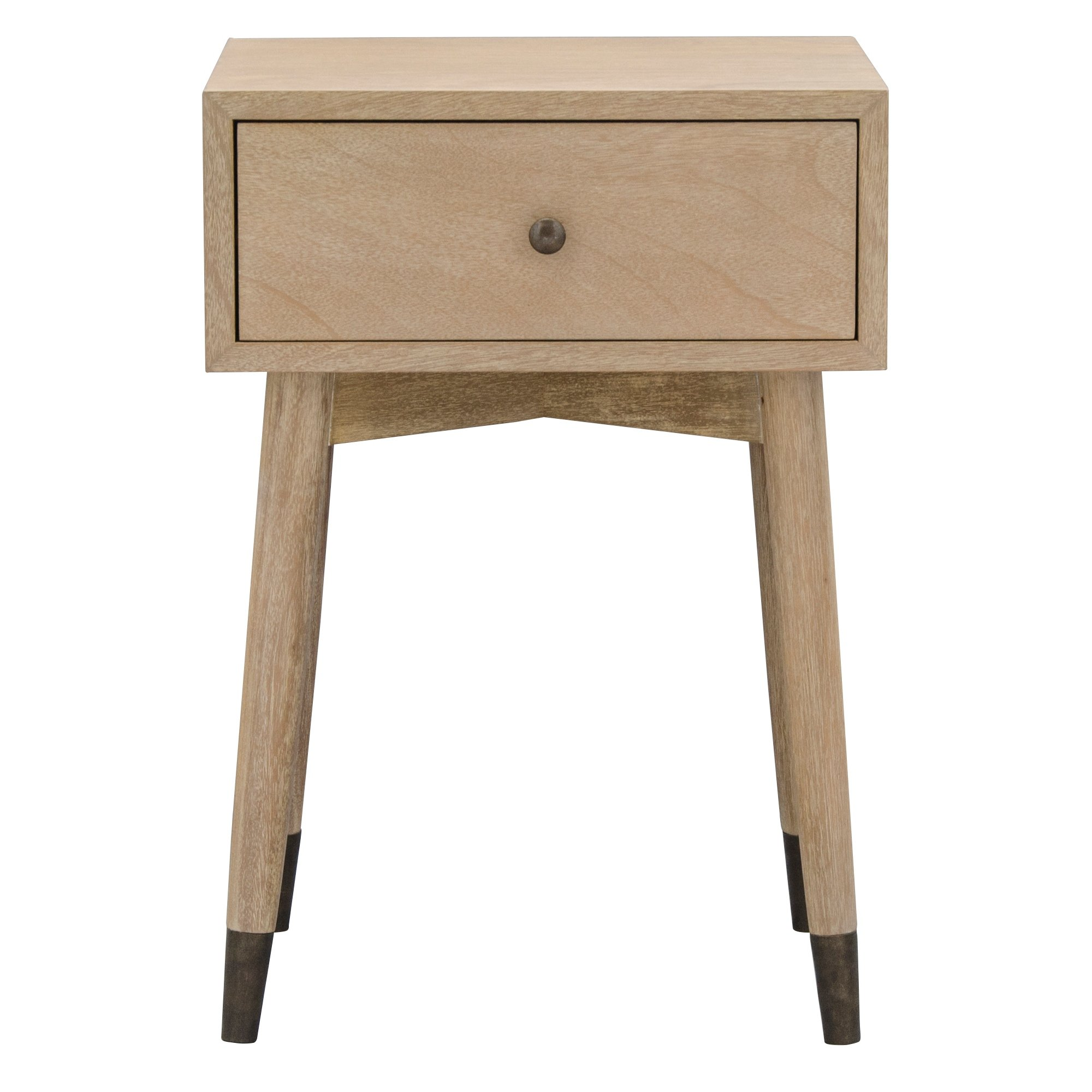 Furnilac Mid Century Accent Table With Drawer