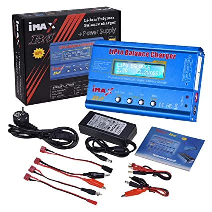 XuBa iMAX B6 80W 6A Cargador de batería Lipo NiMh Li-Ion Ni ...
