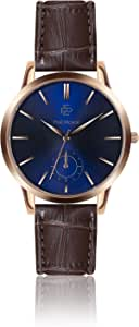 Paul Mcneal Mens Quartz Watch, Analog Display and Leather Strap PBA-2400R