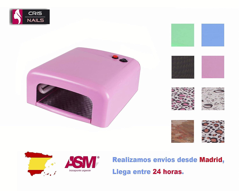 Cris Nails ® SK-818 Lampe 36W ultraviolet pour sécher les ongles pour manucure en gel ou vernis permanent rose