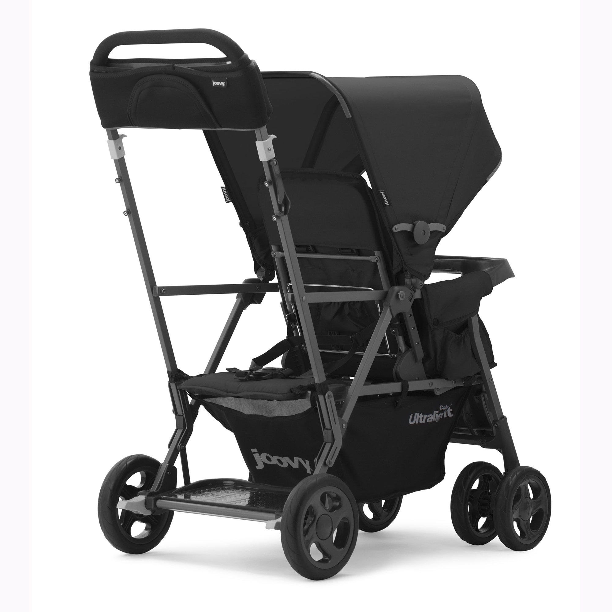JOOVY Caboose Too Ultralight Graphite Stand-On Tandem Stroller, Black by Joovy (Image #3)