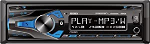 JENSEN CDX3119 10 Character LCD Single DIN Car Stereo Receiver, Bluetooth, USB Charging, Front AUX Input