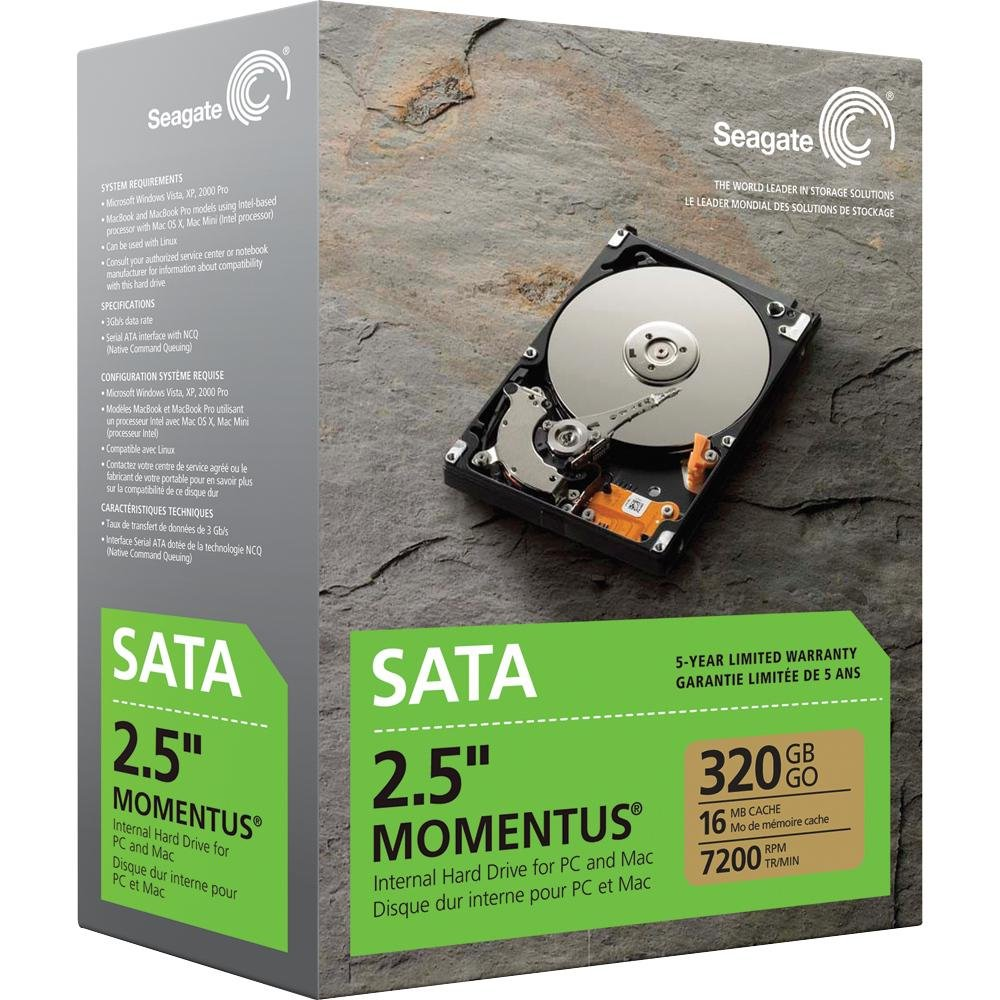 Seagate Momentus 320 GB SATA 7200 RPM 2.5-Inch Internal Hard Drive ST903203N3A1AS-RK
