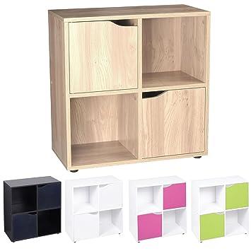 Amazon De Cube Regal Holz Bucherregal Mit