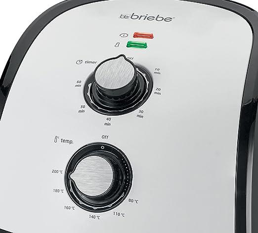 briebe Freidora sin Aceite por Aire Caliente, Capacidad 2, 2 l ...
