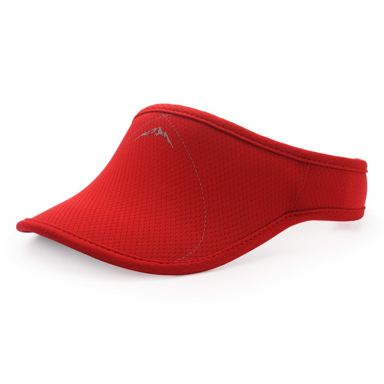 UShake Sports Sun Visor, Visors Hat for Man or Woman in Outdoor Golf Tennis Running Jogging Hiking (Red) by UShake