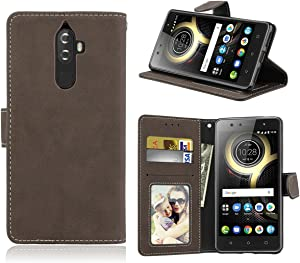 Lenovo K8 Note Case,Gift_Source [Kickstand Feature] [Card Slot Pocket] Ultra Thin Wallet Flip Phone Case Matte Faux Leather Folio Magnetic Protective Cover for Lenovo K8 Note (5.5 inch) [Coffee]