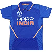 GOLDEN FASHION Unisex India Cricket World Cup Jersey with Logo 2019