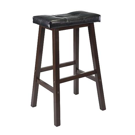 Incredible Winsome 94069 Mona Stool 29 Antique Walnut Machost Co Dining Chair Design Ideas Machostcouk