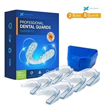 Professional Dental Guard - Pack of 8 - New Upgraded Anti Grinding Dental  Night Guard, Stops Bruxism, Tmj & Eliminates Teeth Clenching, 100%