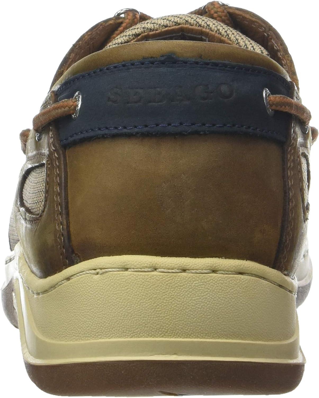Brown Cinnamon 922 11.5 UK Sebago Mens Clovehitch Ii FGL Waxed 7000GE0 Boat Shoes Multicolour