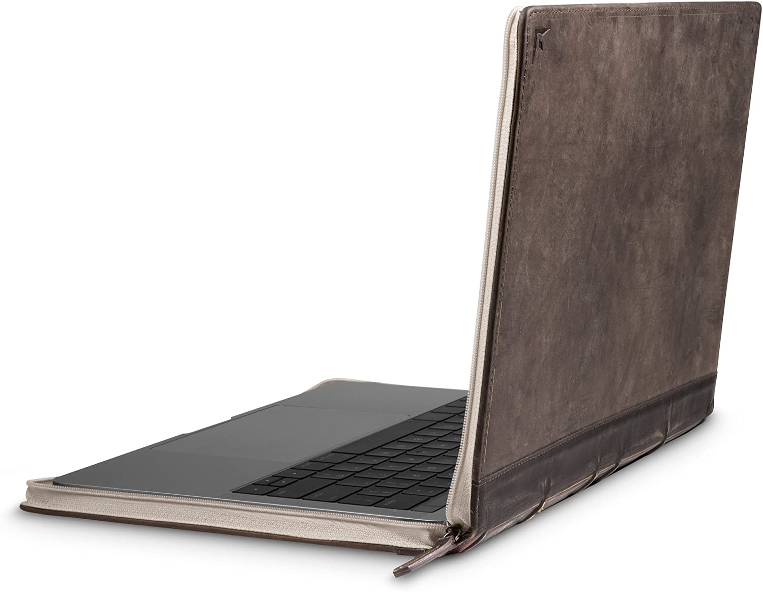 "Twelve South BookBook V2 for MacBook | Vintage Leather Book case/Sleeve with Interior Pocket for 13"" MacBook Pro w/Thunderbolt 3 (USB-C) and 13"" MacBook Air Retina"