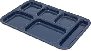 Carlisle 4398850 Right Hand 6-Compartment Cafeteria / Fast Food Tray, 14.5