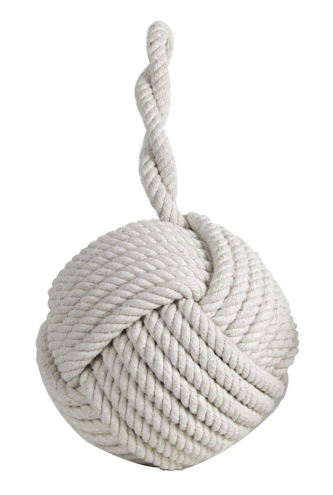 Authentic Models Monkey Fist Nautical Knot Doorstop Cotton