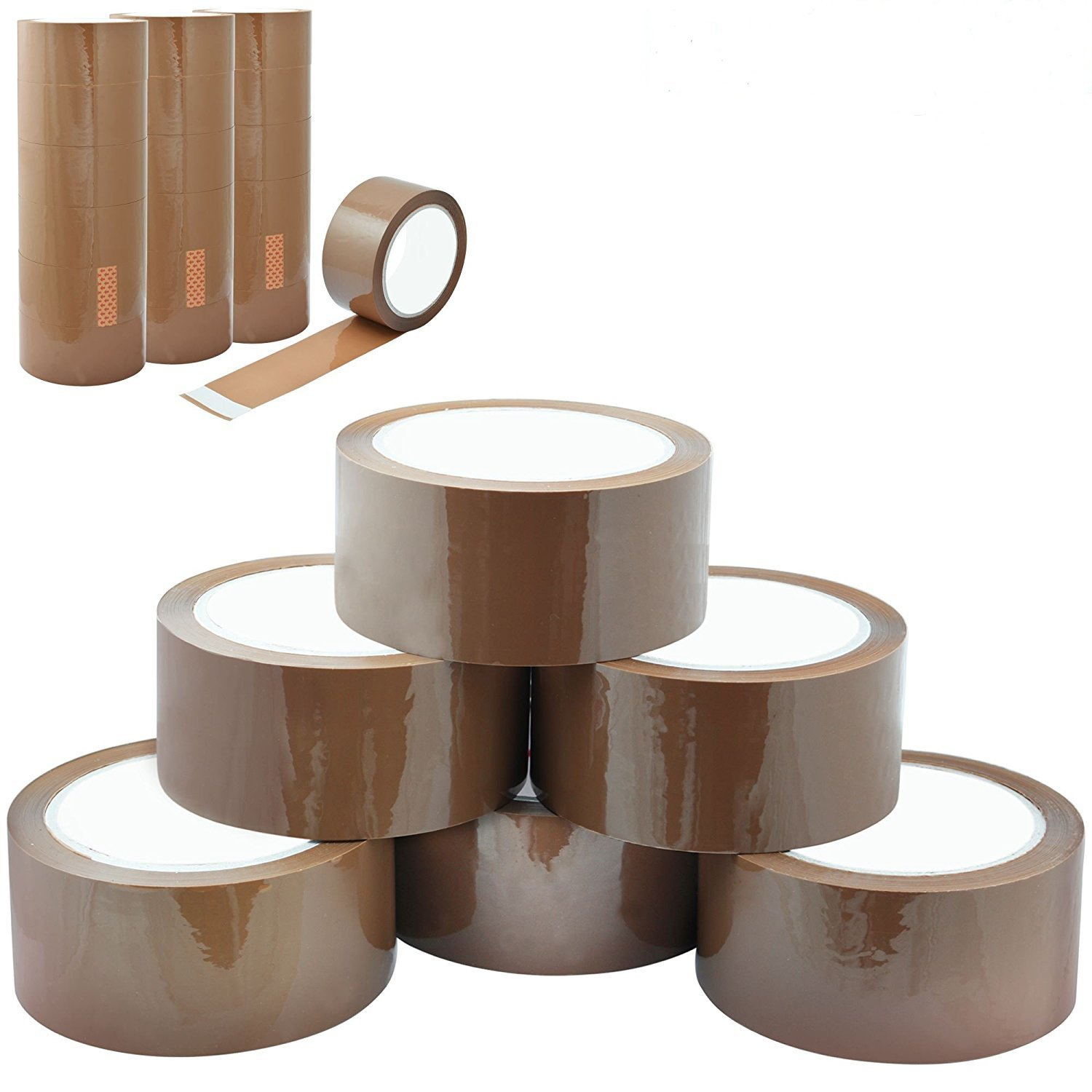 12 x Brown Packaging Tape Parcels Boxes Pack Of 12 Heavy Duty Strong Secure and Sticky Seal – 12 Rolls 48mm x 66M Packaging Now