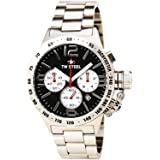 TW Steel CB3 Men's Canteen Silver Stainless Steel Bracelet Band Black Dial Watch