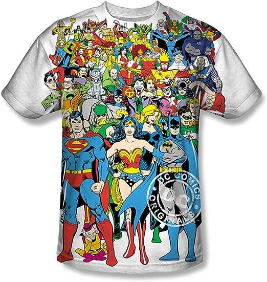 DC Comics Men/'s Dc Characters Original Universe T-Shirt