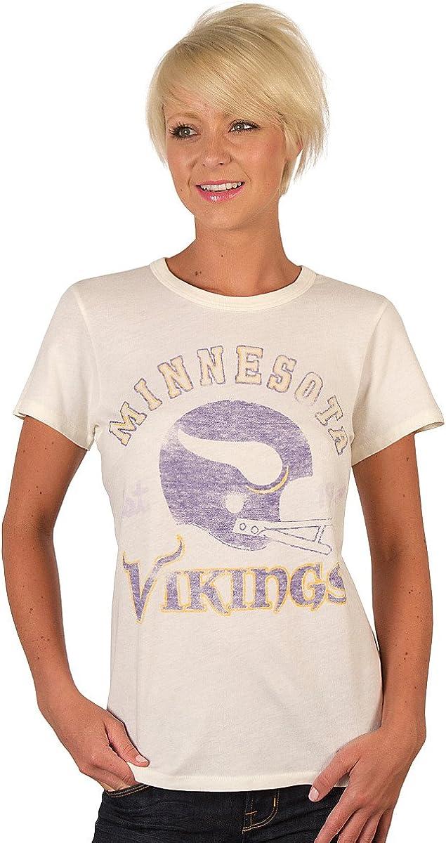 NFL Minnesota Vikings Heather Vintage Short Sleeve Crew Women's