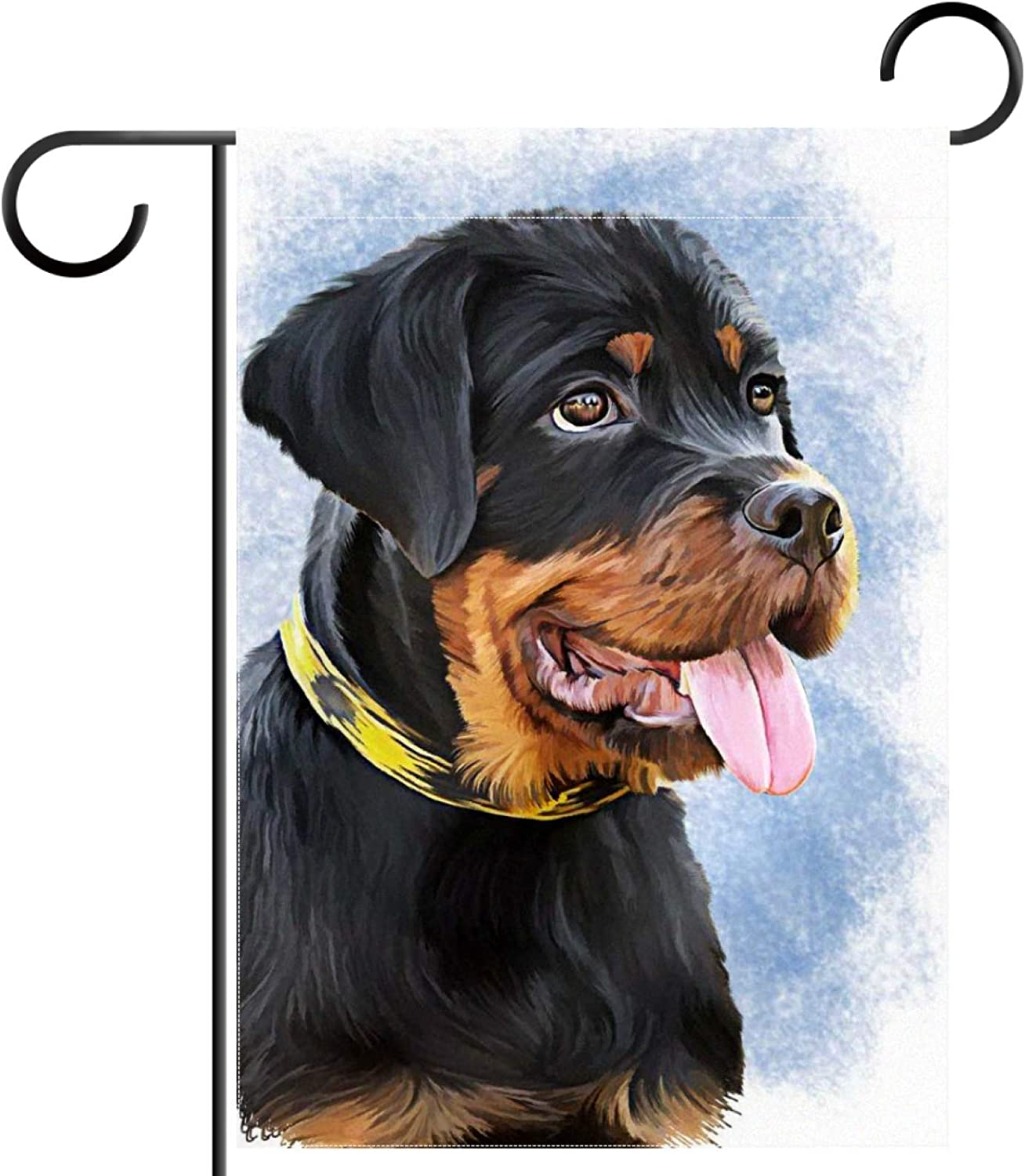 Garden Flag 28x40 inch,Rottweiler Dog,Yard Flag with Double Sided for Outside Farmhouse Patio Lawn Outdoor Home Decoration Gift