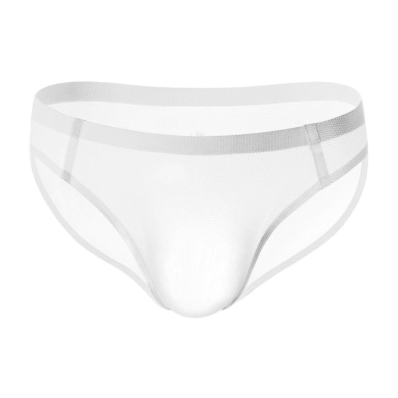Soojun Mens Without Any Stitching Mesh Bulge Pouch Low Rise Briefs