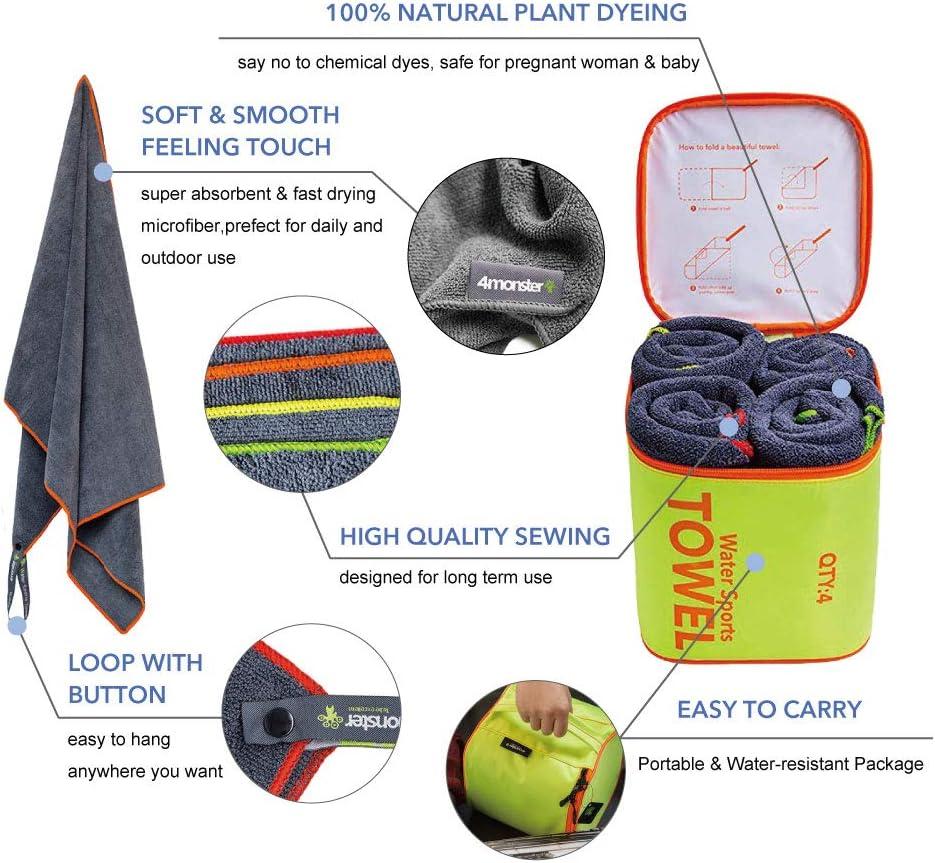 4Monster Microfiber Camping Bath Towel Set