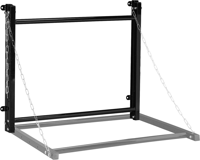 schwarz f/ür 4 Reifen klappbar Stahl bis 90kg Teleskop Reifenhalter Wandhalterung Relaxdays Reifenregal Wandmontage