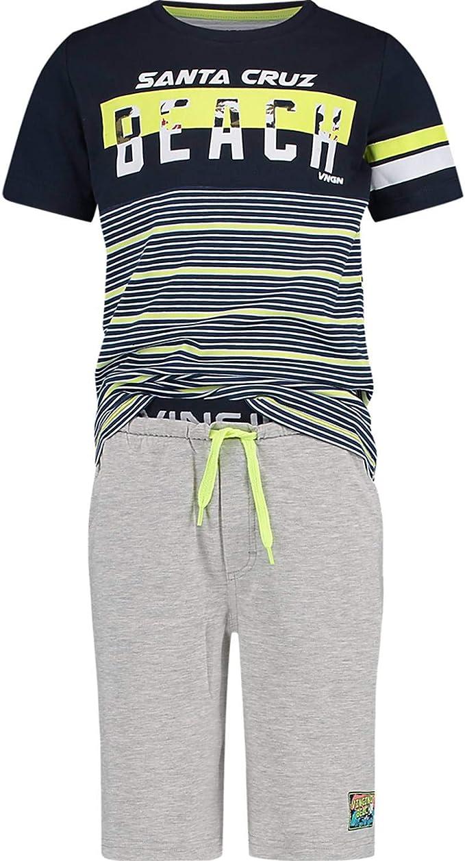 Vingino B 192-5 Jungen Unterhemd Striped Top Dark Blue
