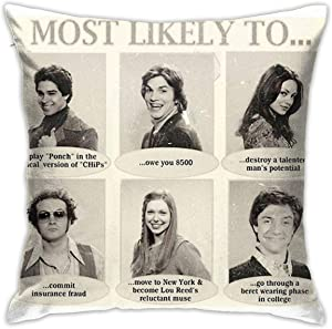Mabel That 70S Show Most Likely to. Yearbook Quotes Square(45cmx45cm) Pillowcase Home Bed Room Interior Decoration