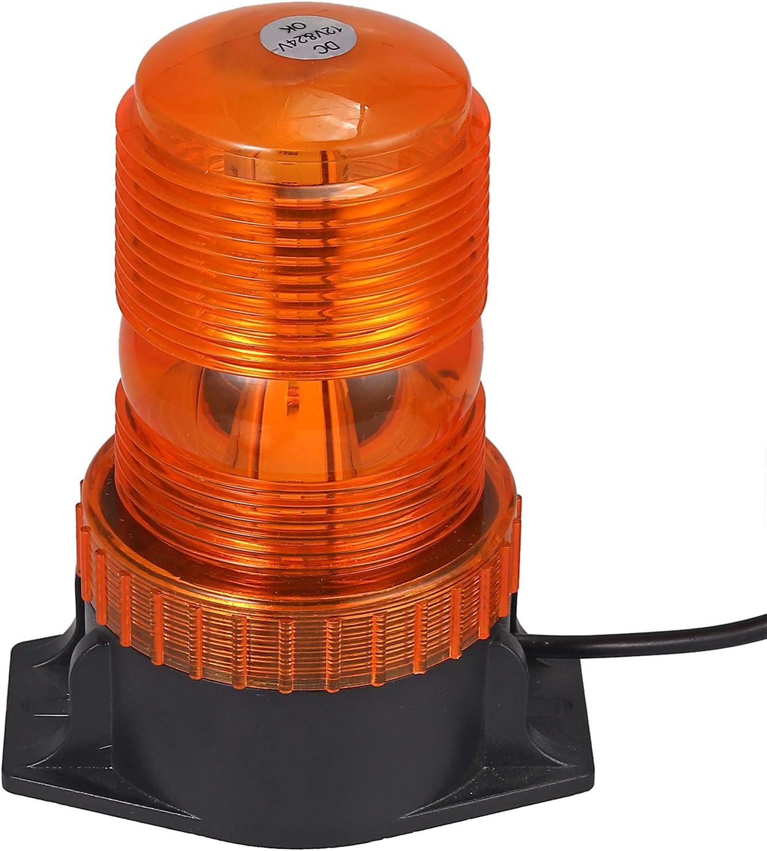 30 LEDS Luz Estroboscópica de Advertencia Rotativo Luz Emergencia 12V 24V 30 7 Modos de Parpadeo Impermeable Magnético Baliza Luz 30W para Camión Autobus Remolque SUV