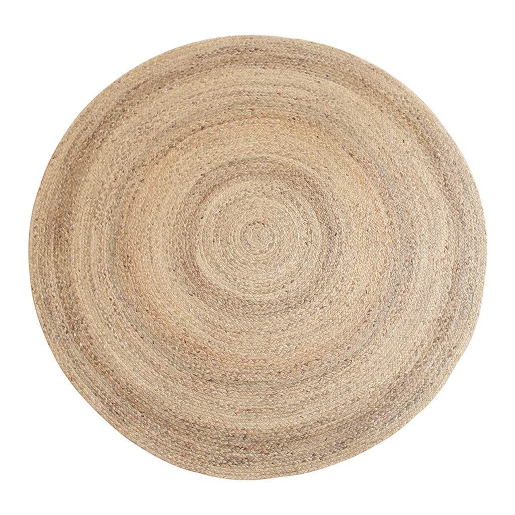 LIUXIN リビングルームのベッドルームベッドサイドウォーターリード手作り草織りラウンドカーペット - サイズ複数選択 カーペット (サイズ さいず : 150cm) B07RQKGQMB  150cm