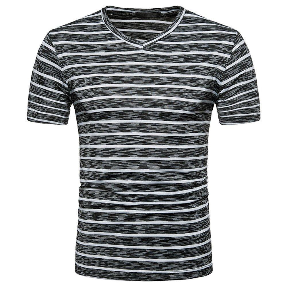 Weant T Shirt da Uomo Manica Corta Blu Nero Polo Striscia Abbigliamento Uomo Slim Fit Tee Basic Stampa Taglie Forti Casual Cotone Retro Camicetta Sportivo Top Girocollo Estiva Maglia