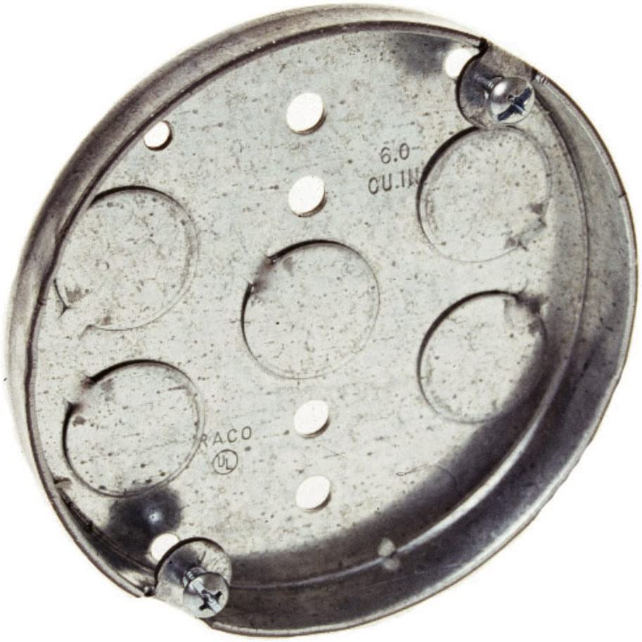 Hubbell-Raco 8293 1//2-Inch Deep 1//2-Inch Bottom Knockouts 4-Inch Round Ceiling Pan