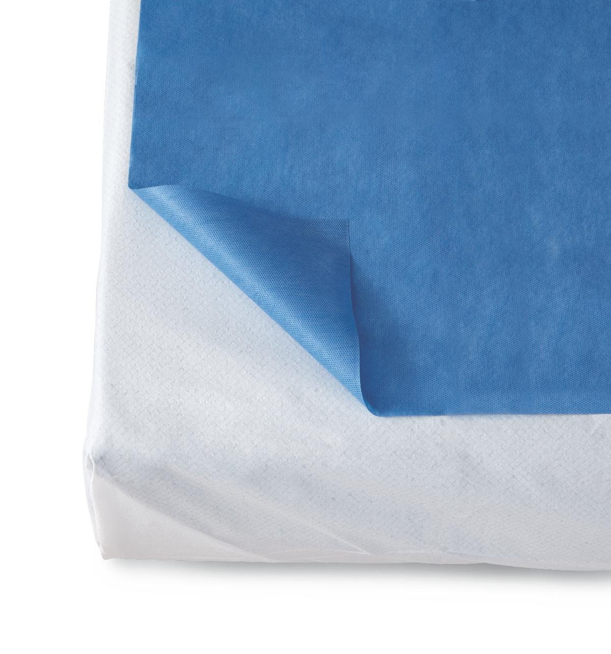 Medline NON33100 Disposable Flat Bed Sheets, 40'' x 84'', Dark Blue (Pack of 50)
