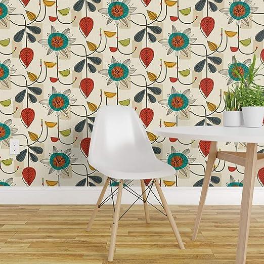 Wallpaper Roll Mid Century Modern Geometric Mod Retro Atomic 24in x 27ft