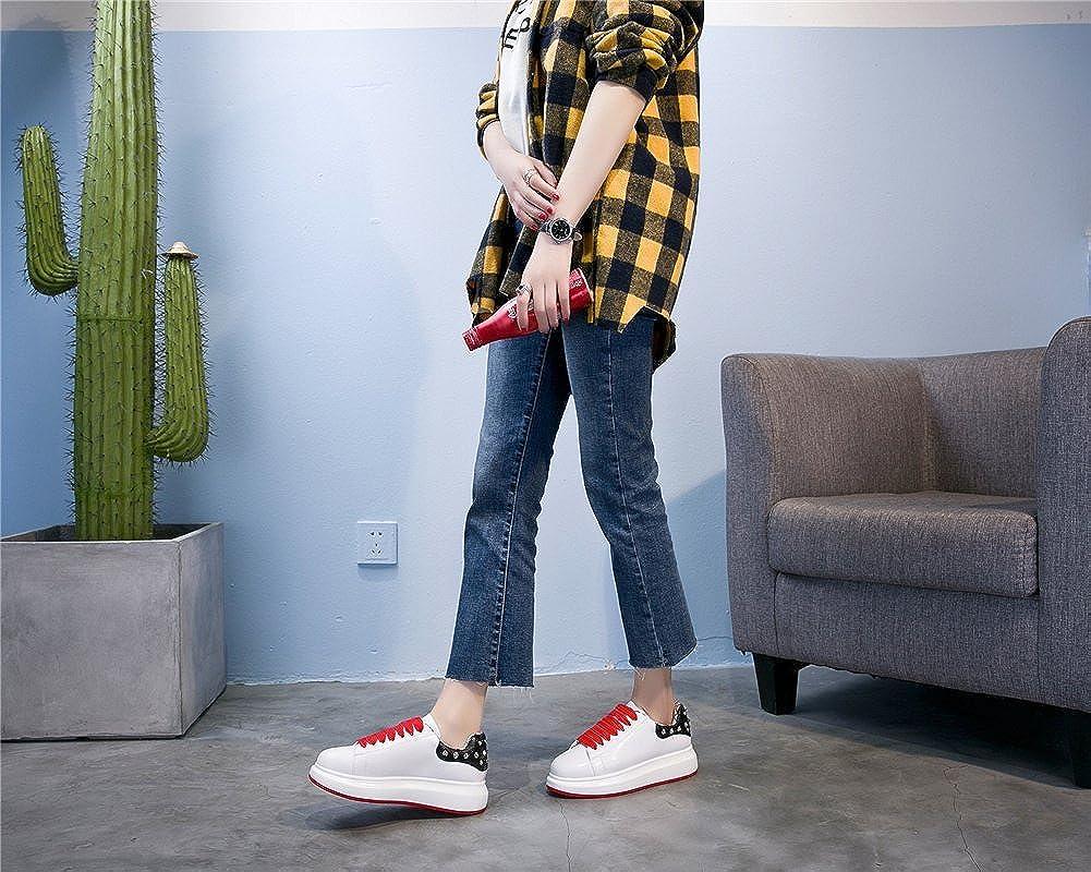 Exing Scarpe Da Donna Autunno Inverno Scarpe Scarpe Scarpe Nuove, Scarpe Da Donna Trend In Pelle, scarpe da ginnastica Piatte, Scarpe Da Innamoramento Per Rivetti 163129