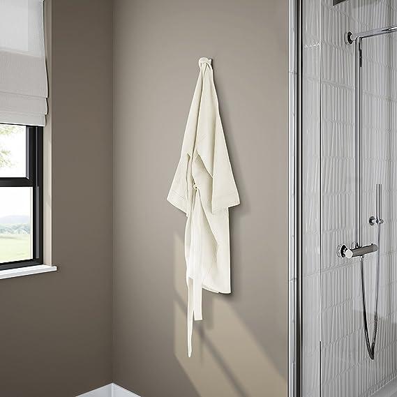 Soak Accesorio de baño: Moderno colgador cuadrado de albornoz o toalla para cuarto de baño con acabado cromado: iBathUK: Amazon.es: Hogar