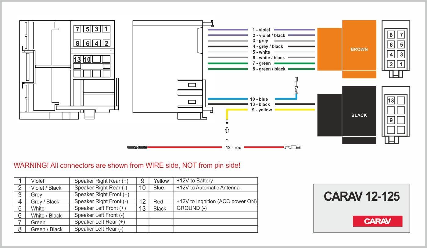 CARAV 12-125 Iso-f Adattatore Radio tutti i modelli con Quadlock connessione wire connettore cablaggio Loom Cavo adattatore stereo