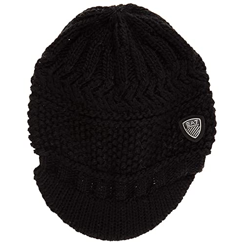 Emporio Armani EA7 women s beanie hat mount urban 2 black UK size S 285399  7A734 00020 36241ff548e