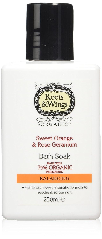Roots and Wings Organic Balancing Sweet Orange and Rose Geranium Bath Soak 250ml Medichem International Ltd 74003