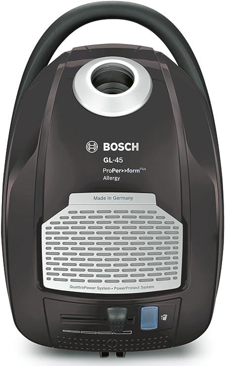 Bosch BGL45500 ProPerformPlus - Aspirador con bolsa AAAA, 700 W, filtro HEPA H13 lavable (recomendado para alérgicos), sistema PowerProtect, color gris plomo y plata: Amazon.es: Hogar