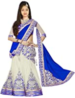 Myozz Girl's Party Wear Georgette Semi Stitched Free Size Lehenga Choli, Salwar suit, Gown (Comfortable to 8-12 Year Girls)