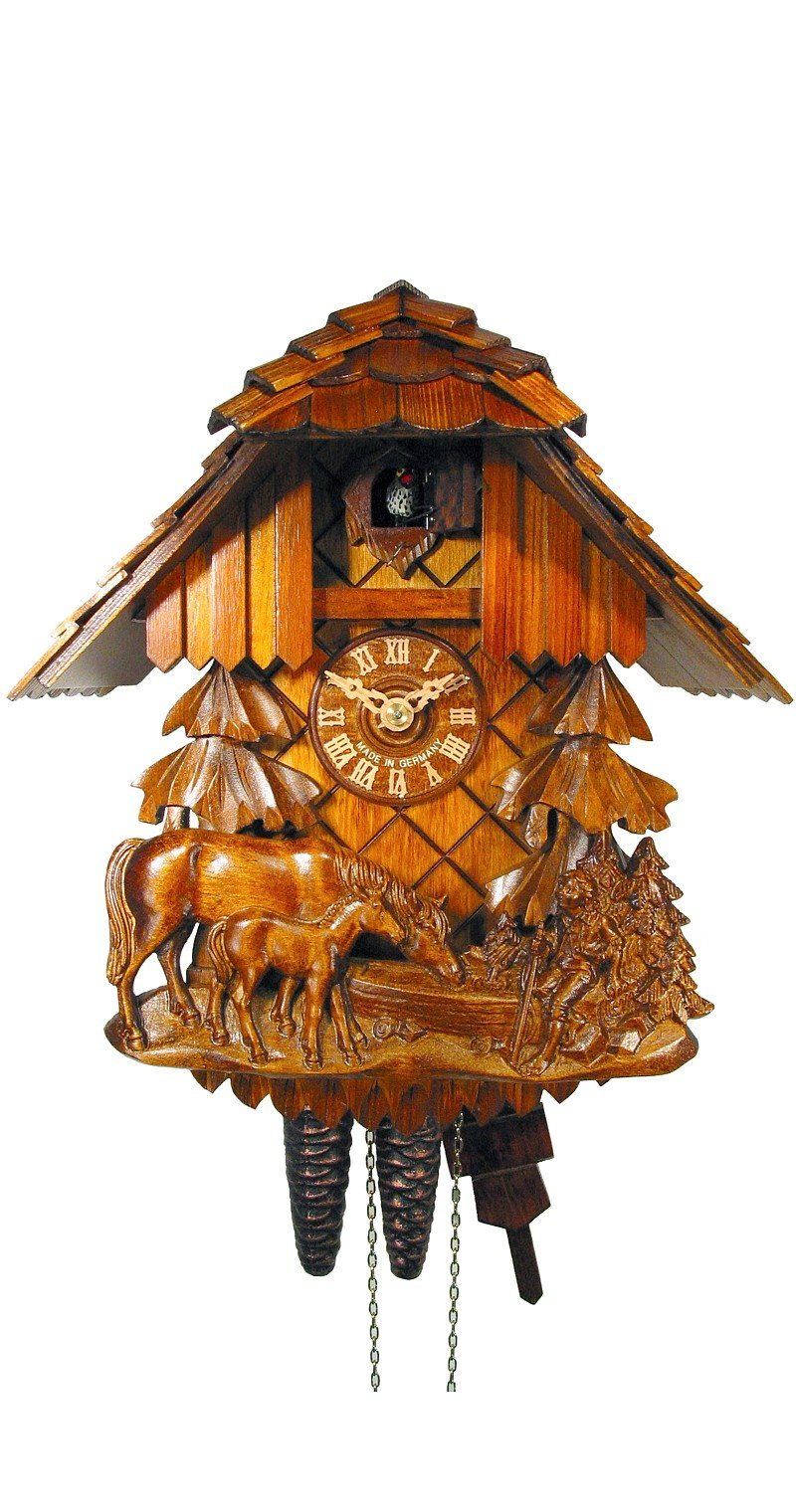 Cuckoo Clock Relif, Horse, Child