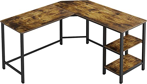 Function Home 54 Inch L-Shaped Computer Desk