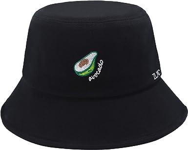 Unisex Fisherman Hat Embroidered Bucket Cap Women Sun Shading Outdoor