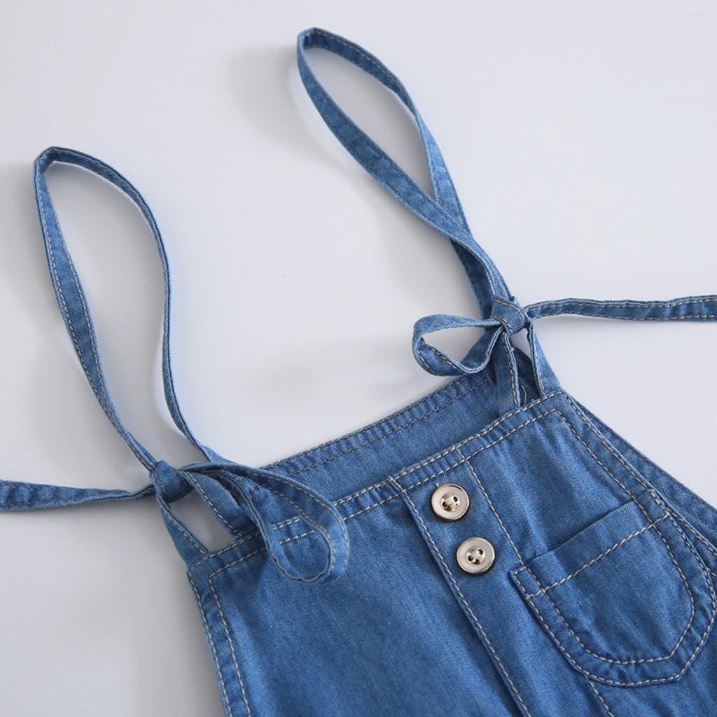 Beb/é Peto con Pernera Corta Ni/ñas Pantalones de Peto Vaqueros Overalls Pantal/ón Ajustable 2-3 A/ños