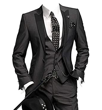 men s slim fit one button groom best man peak groomsmen men wedding